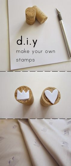 The best DIY projects & DIY ideas and tutorials: sewing, paper craft, DIY. Diy Crafts Ideas DIY: how to make your own stamps. Fun Crafts, Diy And Crafts, Arts And Crafts, Paper Crafts, Diy Projects To Try, Craft Projects, Craft Ideas, Diy For Kids, Crafts For Kids