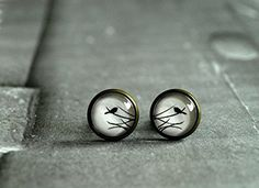 Small Post Stud Bird Earrings Ear Stud White Black Nature Earrings Glass Dome Stud Birds Stud Gift for Her Cabochon Earrings Picture Studs XIAONA http://www.amazon.ca/dp/B0104I93QO/ref=cm_sw_r_pi_dp_BL8Jwb12C9QXR