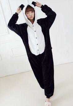 Panda Animal Pajamas Piece Autumn And Winter Long Sleeve Cartoon Sleepwear Robes