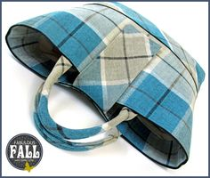 The Quintessential Plaid Tote: Fabulous Fall with Fabric.com | Sew4Home