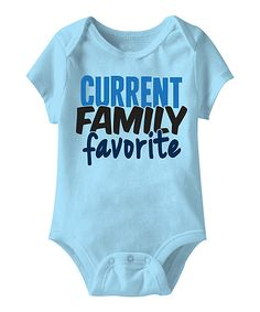 Blue 'Current Family Favorite' Bodysuit
