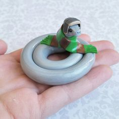 Handmade, Polymer Clay Reptile Figurine, Crafted by The Clay Kiosk on Etsy. Polymer Clay Figures, Cute Polymer Clay, Polymer Clay Animals, Cute Clay, Polymer Clay Miniatures, Fimo Clay, Polymer Clay Charms, Clay Projects, Clay Crafts