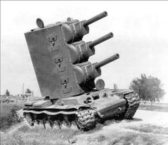 Now this is a very interesting tank , wonder how it stays up right . Special KV-2