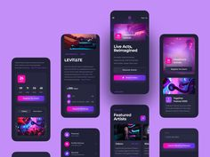 Ui Design Mobile, App Ui Design, User Interface Design, Web Design, Moodboard App, Web Developer Portfolio, Android App Design, Directory Design, Mobile App Ui