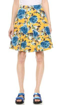Spring must have: Marc by Marc Jacobs Jerrie Rose Poplin Skirt #leavetheshoes #spring2015 #mbmj