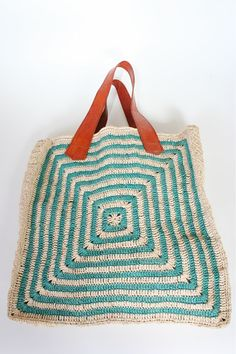 african straw tote via good long while