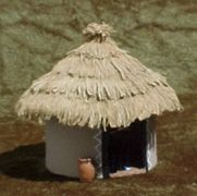 Darkest Africa: Native huts | Gisby's Gaming Blog African Hut, Wooden Candle Holders, Round House, King Kong, Xmas Decorations, Wooden Beads, Craft Stores, Nativity, Dark