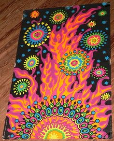 1969 The Third Eye BLACK LIGHT NEON PSYCHEDELIC POSTER