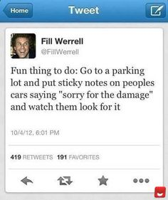 Genius Prank! Not really a big Will Ferrell fan... actually can't stand him, but this was funny!