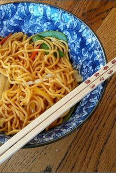 This colorful vegetable lo mein is a yummy way to use up produce in the fridge.