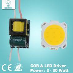 3W 5W 7W 10W 12W 15W 20W 25W 30W COB led chip board panel for led spotlight lamp led lamp 110-240V input LED power supply driver