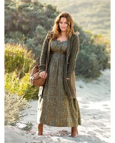 Robe longue grande taille femme TAILLISSIME
