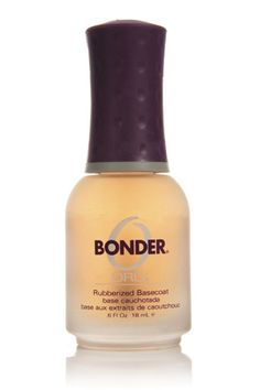 Orly Bonder - This basecoat features a rubberized formula that helps your nail polish adhere, guaranteeing a chip-free finish that lasts for weeks!