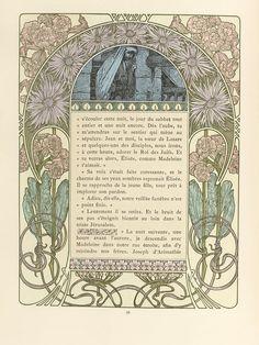 Cloches de Noël et de Pâques, by Émile Gebhart. (1839-1908). Illustrated by Alphonse Mucha.(1860-1939). H. Piazza et Cie. L'Édition d'Art, 4 rue Jacob, Paris. 1922.