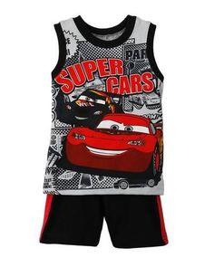 NWT Disney CARS 2-Piece Short Set SZ 12 Months