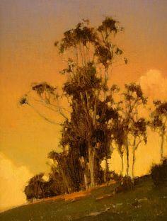 ☼ Painterly Landscape Escape ☼ landscape painting by Brian Blood | Hillside Eucalyptus
