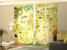Amazing Set of Panel Curtains Kids Map Wellmira ModernCurtains PanelCurtains Curtains