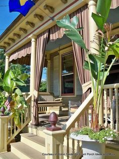 Outdoor curtains provide instant curb appeal along with helping you create a stylish porch. Who doesn't love the look of wispy curtains blowing softly on a summ… Outdoor Drapes, Outdoor Pergola, Outdoor Rooms, Outdoor Living, Outdoor Decor, Pergola Ideas, Backyard Patio, Backyard Pergola, Outdoor Art