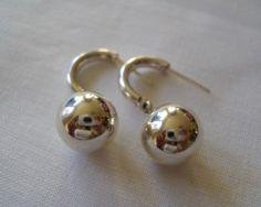 Sterling Silver Drop Ball Earrings