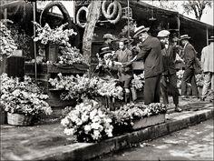 Greek Flower Sellers. Athens, 1928