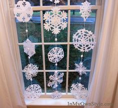 It's funny how one thing leads to another sometimes….and turns into something special. :-) This post started out with me wanting to try my hand at making paper snowflakes. I think the last time I actually cut out a snowflake was probably in 6th grade! But lately I have seen so many great tutorials on …
