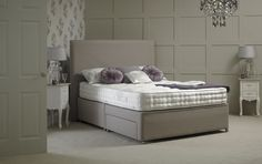 The Royal Lytham Divan is available in 3 tensions and upholstered with resilient foam, cotton blend and soft white fibre.  We can now offer you the facility to order online the exact specifications that you require for your bed including the divan fabric, the number of drawers and the firmness of the mattress. It has never been easier to tailor your requirements. Amazing Beds, Cool Beds, Mattress, Drawers, Number, Fabric, Cotton, Furniture, Home Decor