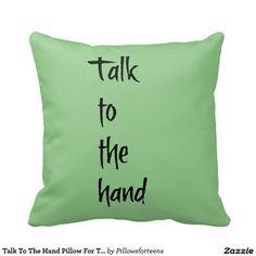 Gespräch zum Handkissen für Teens. Kissen