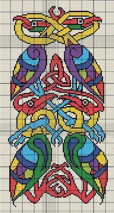 Celtic Birds Cross Stitch Pattern (Chart for crochet? Celtic Cross Stitch, Cross Stitch Bird, Cross Stitch Charts, Cross Stitch Designs, Cross Stitching, Cross Stitch Embroidery, Embroidery Patterns, Cross Stitch Patterns, Gripping Beast