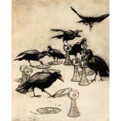 Grimms Fairy Tales 1909 Seven Ravens Canvas Art - A Rackham (18 x 24)