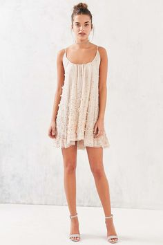 Kimchi Blue Cherry Blossom Beaded Shift Dress - Urban Outfitters