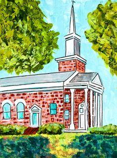 Meredith College Chapel print