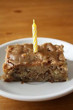 Apple Cake with a Brown Sugar Caramel Glaze!!  Absolutely my favorite cake in the whole wide world.