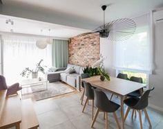 Projekt domu szeregowego - Salon - zdjęcie od Biuro projektowe Joanna Karwowska - homebook