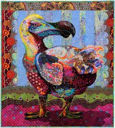 Another one of Susan Carlson's beautiful collage quilts...the Polka Dodo