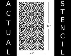 Moroccan Wall STENCIL Tile Pattern no. 3 REUSABLE Easy