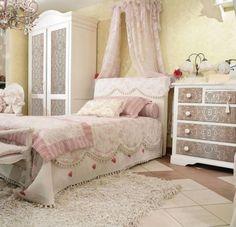 Einrichtungsideen schlafzimmer shabby chic  schlafzimmer ideen gestaltung shabby chic dachschräge vintage ...