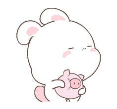 LINE Creators' Stickers - happy bunny 1 Example with GIF Animation Cute Bunny Cartoon, Cute Kawaii Animals, Cute Cartoon Drawings, Cute Cartoon Pictures, Anime Girl Drawings, Funny Bunnies, Kawaii Drawings, Cute Images, Cute Love Memes