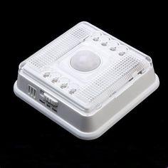 Auto 8 LED Light PIR Sensor Motion Detector Wireless Infrared Indoor
