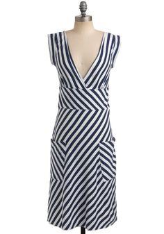 $54 Ocean Liner Dress | Mod Retro Vintage Printed Dresses | ModCloth.com