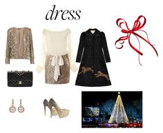 """""""Christmas Cocktails"""" by pkgabriel ❤ liked on Polyvore featuring Gucci, Tart, Chanel, Selim Mouzannar and partydress"""