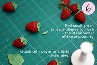gumpaste strawberry tutorial