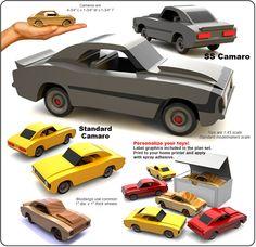 Set 2 - Small World 1968 Camaros Wood Toy Plan Set