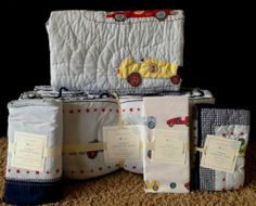 NWT Pottery Barn Kids Baby LOGAN Crib Cotton Bumper Pad