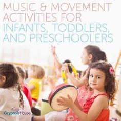 Music and Movement Activities for Infants, Toddlers, and Preschoolers help learn music insturments, language, and develop their large motor skills by moving their body. Movement Preschool, Preschool Music Activities, Movement Activities, Infant Activities, Toddler Preschool, Time Activities, Music For Toddlers, Music Lessons For Kids, Piano Lessons