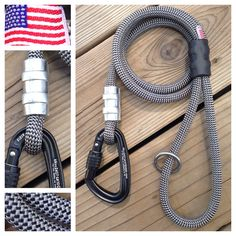 Gray Wolf Climbing Rope Dog Leash with carabiner. http://mydogscool.com/store/leashes/gray-wolf-dog-leash/