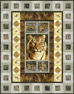 Tiger Kingdom Free Quilt Pattern
