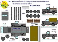 This paper model of the 1941`s Dodge WC 214 Truck  is offered by the website of  Asociacion Cultural Mesaches , from Spain . You can build...