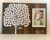 Hochzeit Gästebuch Alternative - Hochzeit Gästebuch Hochzeit Gästebuch Holz Effekt-Gastebuch alternative