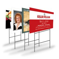 Yard Signs are great solution to temporary signage for advertising your company.