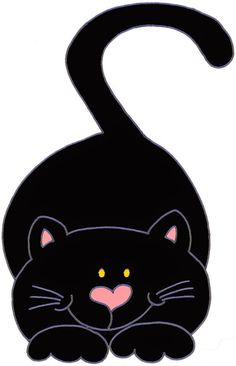 Cool Cats, I Love Cats, Silhouette Chat, Image Chat, Cat Quilt, Cute Clipart, Cute Black Cats, Cat Crafts, Cat Drawing